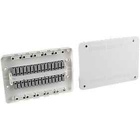 surewire sw4l mf 16a 4 way pre wired junction box white. Black Bedroom Furniture Sets. Home Design Ideas