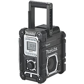 makita dmr108b black am fm bluetooth site radio 240v radios. Black Bedroom Furniture Sets. Home Design Ideas