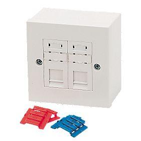 philex rj45 cat5e module outlet kit double modules. Black Bedroom Furniture Sets. Home Design Ideas