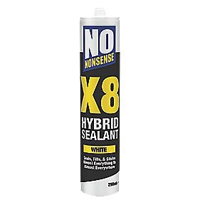 No Nonsense X8 Hybrid Sealant Amp Adhesive White 290ml
