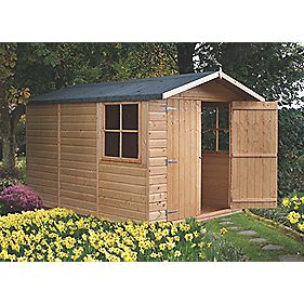 Shire 10 X 7 Nominal Apex Shiplap T Amp G Timber Shed