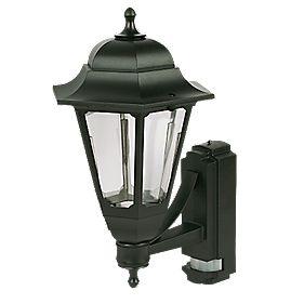 Asd black bc pir coach lantern wall light pir security lights 360 view aloadofball Image collections