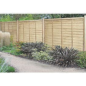 forest superlap fence panels x 4 pack lap. Black Bedroom Furniture Sets. Home Design Ideas