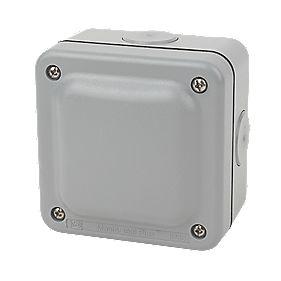 Mk Ip66 4 Terminal Weatherproof Outdoor Junction Box 95 X 65 X 95mm Outdoor Junction Boxes Screwfix Com