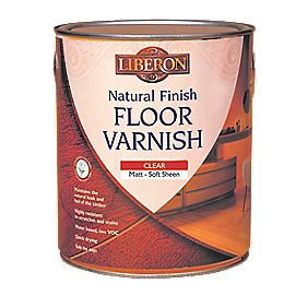 Liberon Natural Finish Water Based Floor Varnish Matt