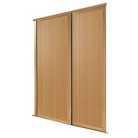Spacepro 2 Door Panel Sliding Wardrobe Doors Oak 1145 X
