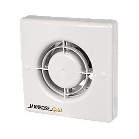 Manrose Mg100t 12w Bathroom Extractor Fan With Timer White