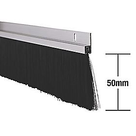 Stormguard Industrial Door Seal Aluminium 1 25m 2 Pack