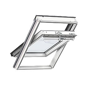 Velux UK08 Manual Centre-Pivot White Roof Window Clear ...