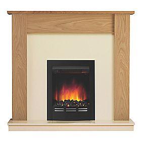 be modern bromley electric suite oak veneer fire suites. Black Bedroom Furniture Sets. Home Design Ideas