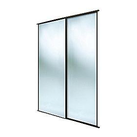 Spacepro Classic 2 Door Framed Sliding Mirror Wardrobe