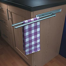 Hafele Aluminium Towel Rails 450mm Cabinet Storage
