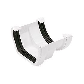 Floplast Square To Round Gutter Adaptor White Square