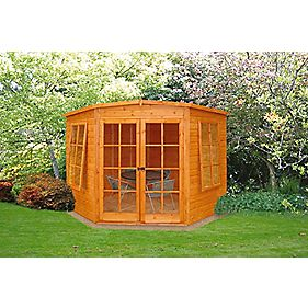 Corner Summerhouse Assembly Included 2 4 X 2 4m