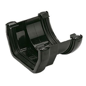 Floplast Square To Round Gutter Adaptor Black Square