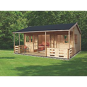 Shire Sherwood Log Cabin Assembly Included 5 9 X 5 39m