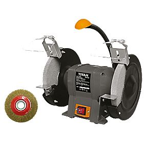 Titan Ttb521grb 200mm Electric Bench Grinder 240v Bench