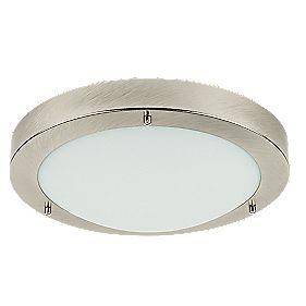Portal bathroom ceiling light brushed chrome es 60w bathroom 360 view aloadofball Gallery
