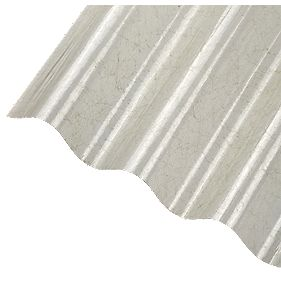 Corrapol Corrugated Polyester Sheet Clear 2000 X 950mm