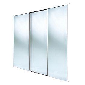 Spacepro 3 Door Framed Sliding Mirror Wardrobe Doors