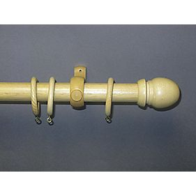wooden curtain pole 35mm x 3000mm curtain poles. Black Bedroom Furniture Sets. Home Design Ideas