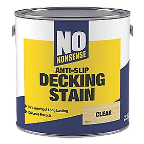 No Nonsense Anti-Slip Decking Stain Clear 2.5Ltr | Decking ...