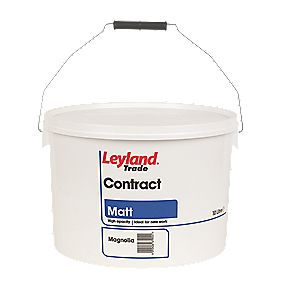 Leyland Trade Contract Matt Emulsion Paint Magnolia 10ltr Emulsion Paints Screwfix Com