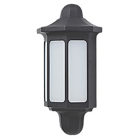 Lap Dunham 9 5w Black Outdoor Led Half Wall Light 580lm
