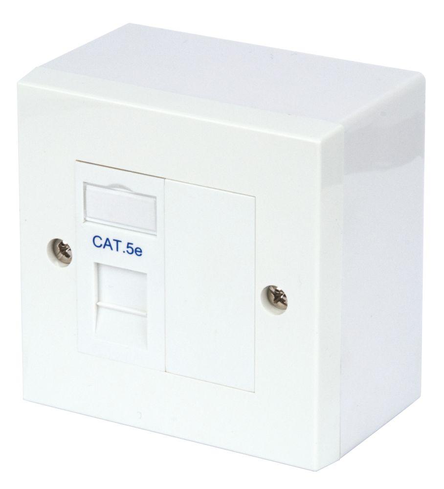 Philex RJ45 Module Outlet Kit Single Cat 5e