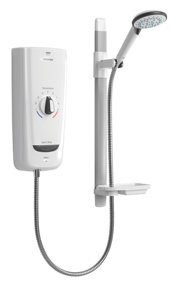 Mira Advance  White 8.7kW Thermostatic Electric Shower