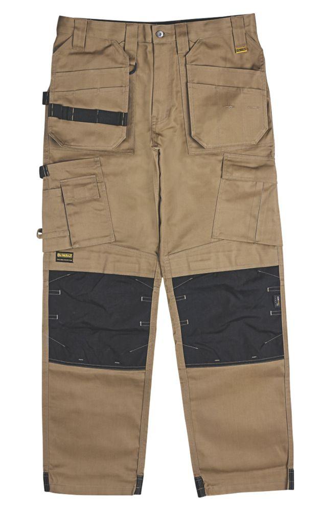"""DeWalt Pro Tradesman Work Trousers Tan 32"""" W 31"""" L"""