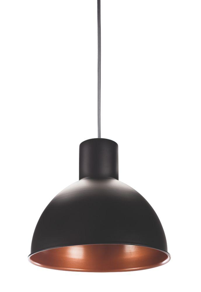 Smartwares Industrial ES Pendant Light Black / Bronze 60W
