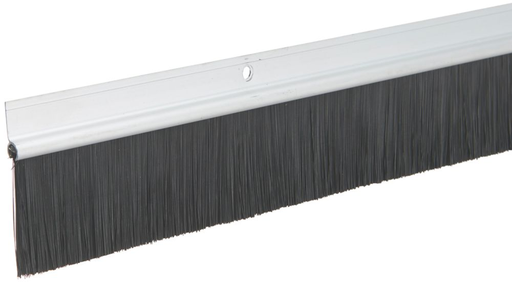 Diall Brushed Garage Door Draught Excluder Silver 1.25m 2 Pack