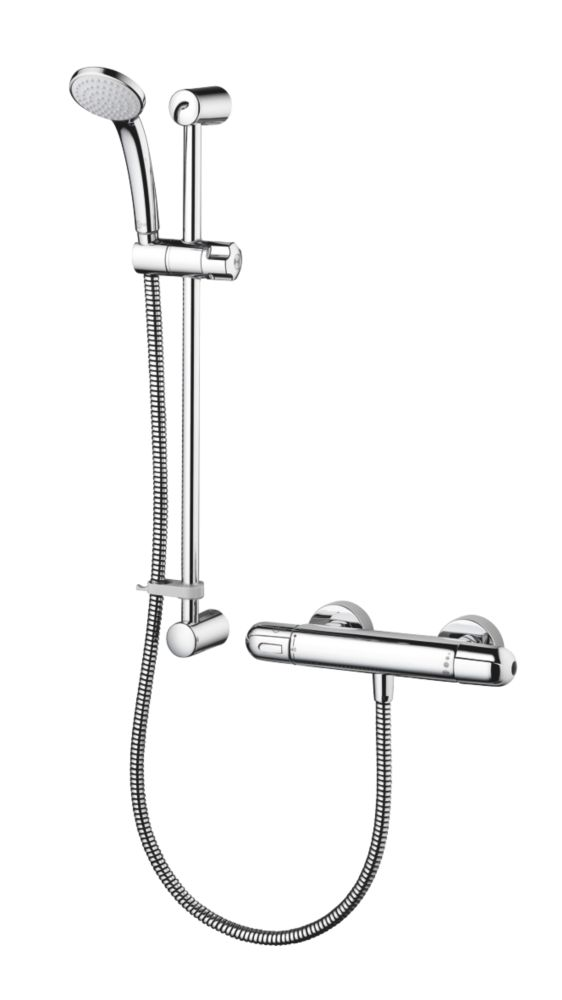 Ideal Standard Alto EV Gravity-Pumped Flexible Exposed Chrome Thermostatic Mixer Shower Flexible