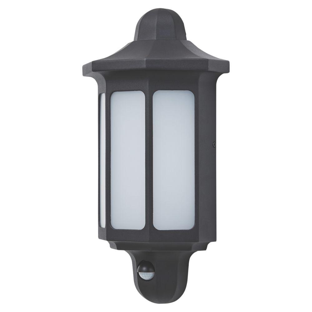 LAP G10156PBK Half-Wall LED PIR Bulkhead  Black 580lm 9.5W