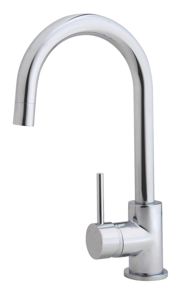 Swirl  Side Lever Mono Mixer Kitchen Tap Chrome