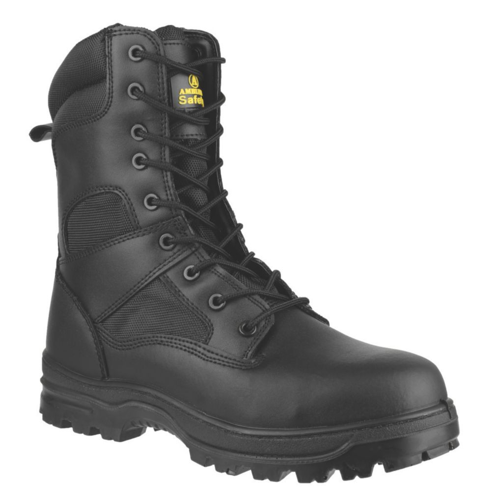 Amblers FS009C Metal Free  Safety Boots Black Size 5