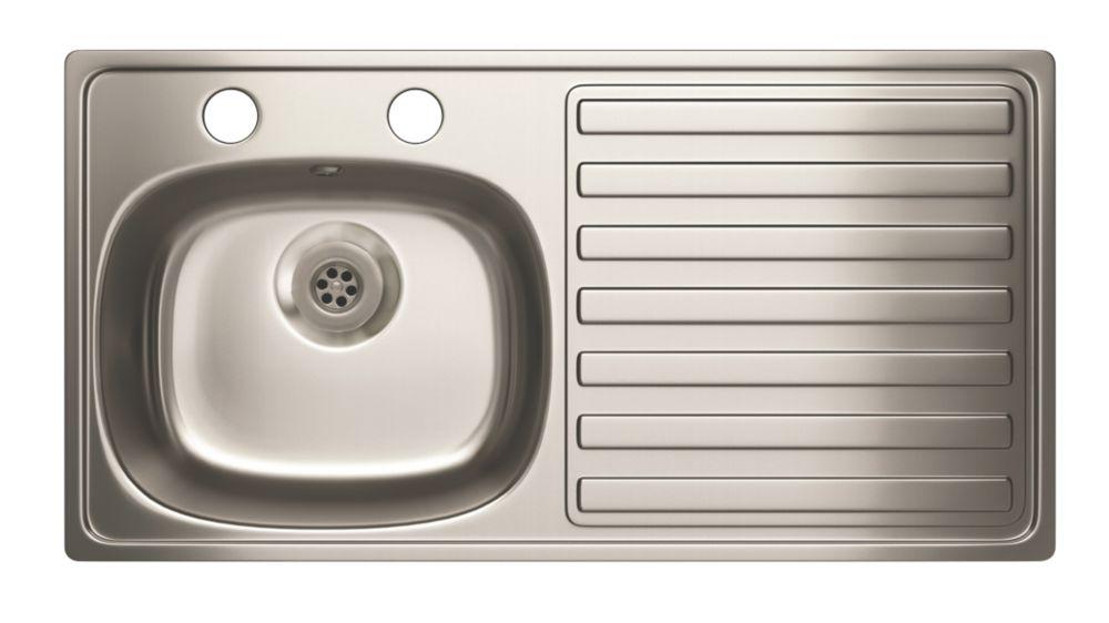 Carron Phoenix  Kitchen Sink Stainless Steel 1 Bowl 940 x 485mm
