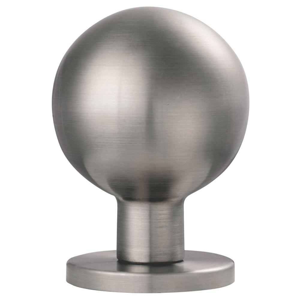 Eurospec Furniture Mortice Knob Pair Satin Stainless Steel 54mm