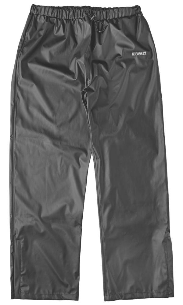 """DeWalt Hurlock Trousers Waterproof Black X Large 46-49"""" W 32"""" L"""