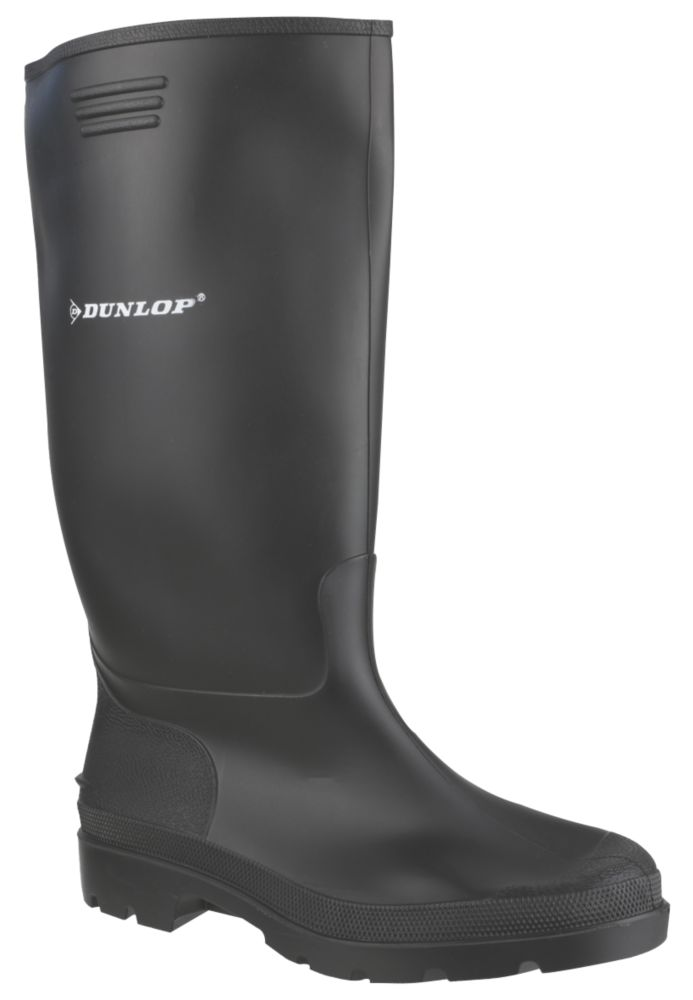 Dunlop Non Safety Pricemaster 380PP   Non Safety Wellies Black Size 11