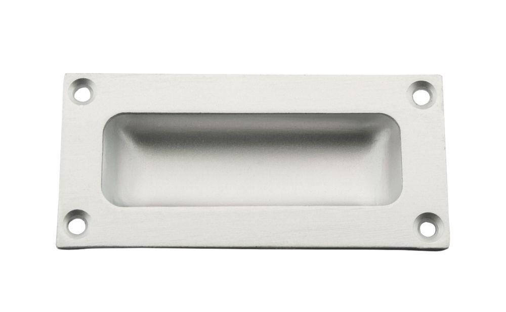 Flush Pull 89mm Satin Anodised Aluminium