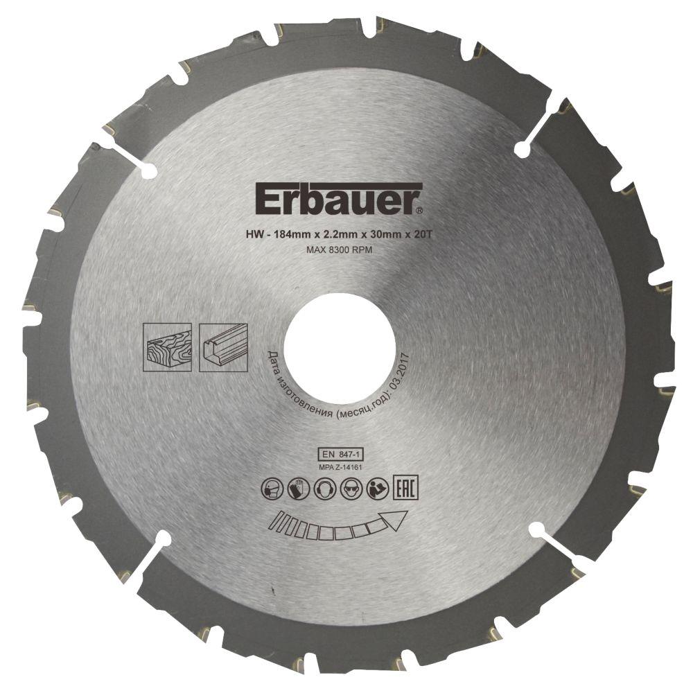 Erbauer Circular Saw Blade 184 x 30mm 20T