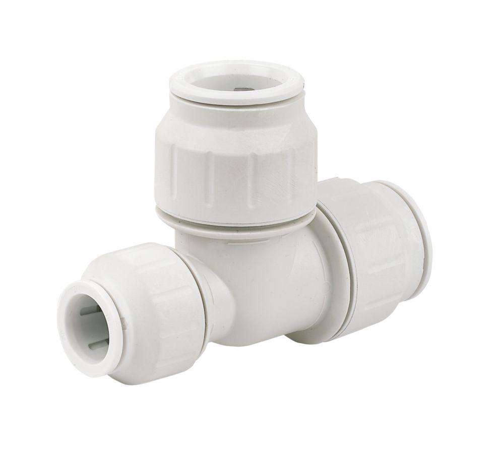 JG Speedfit  Plastic Push-Fit Reducing Tee 22 x 15 x 22mm