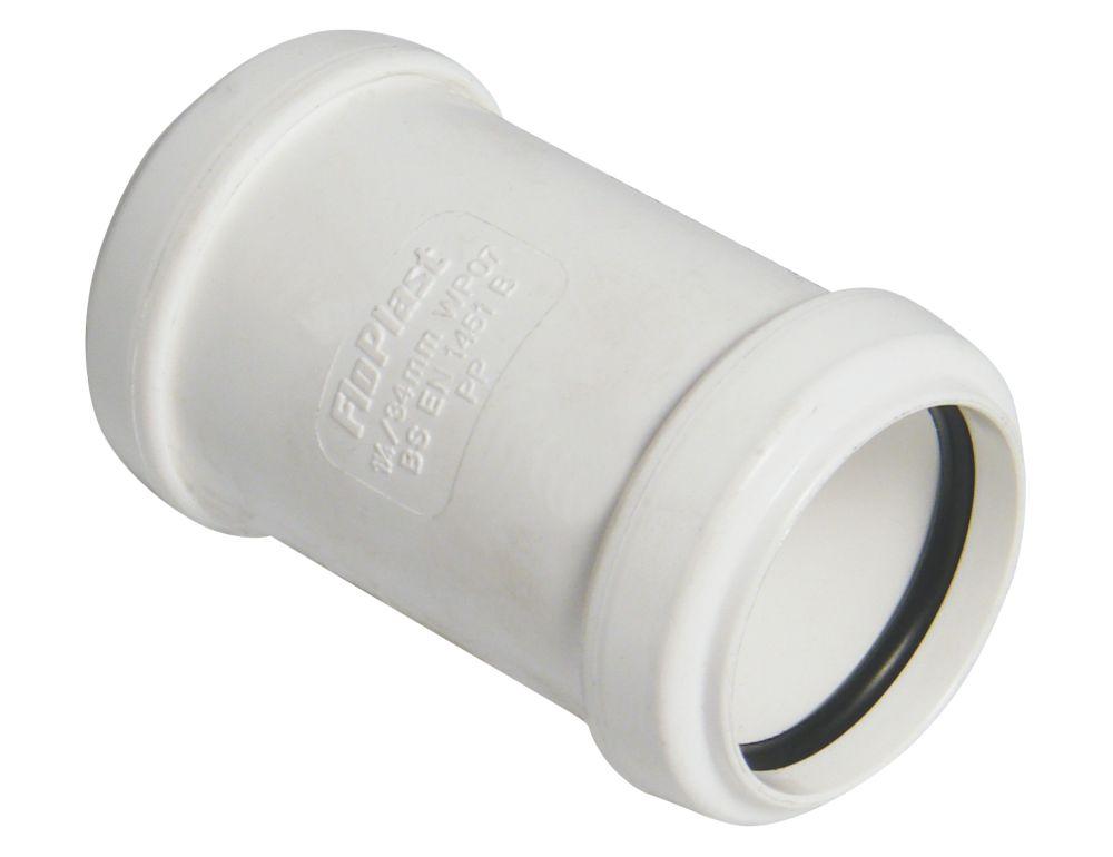 FloPlast Push-Fit Straight Coupler White 32 x 32mm