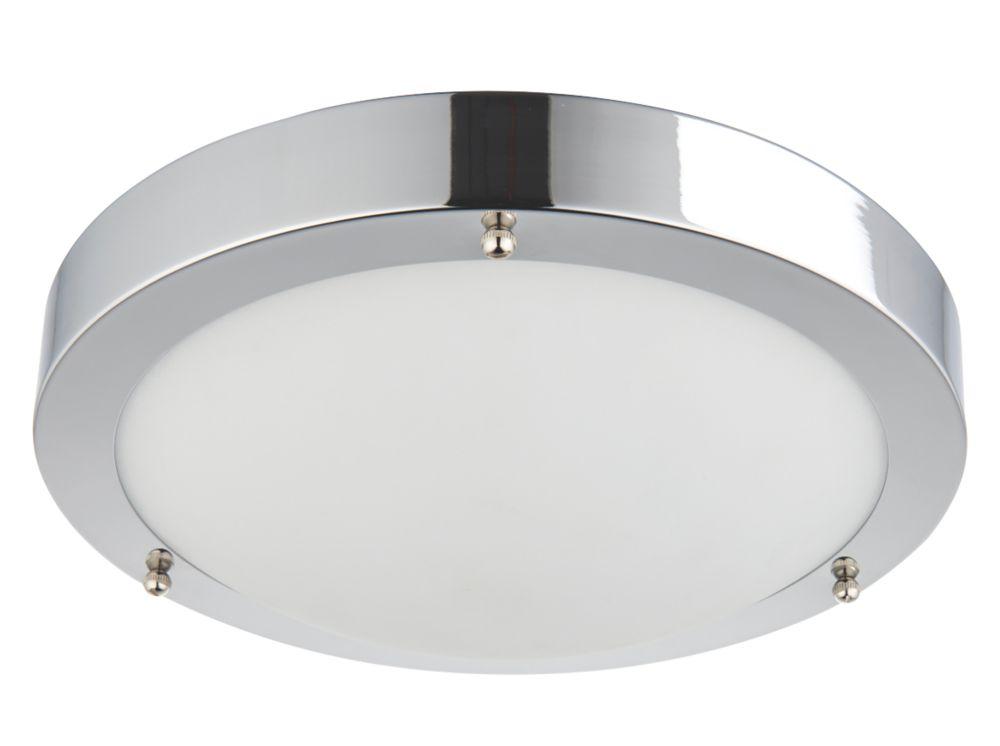 Saxby Portico Round LED Bathroom Ceiling Light Chrome 9W 650lm