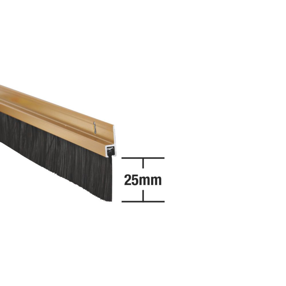 Stormguard Heavy Duty Brush Seal Gold Anodised 0.91m