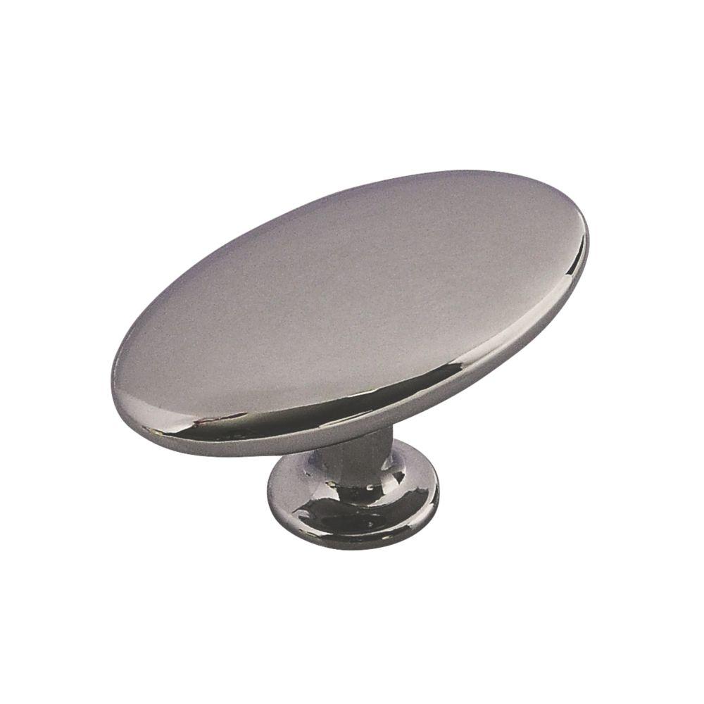 Siro Pebble-Shaped Cabinet Knob Polished Chrome 64mm