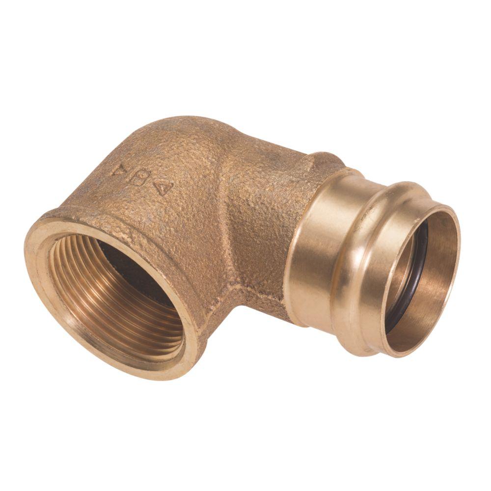 "Conex Banninger B Press  Copper Press-Fit Adapting 90° Female Elbow 15mm x ½"" 5 Pack"