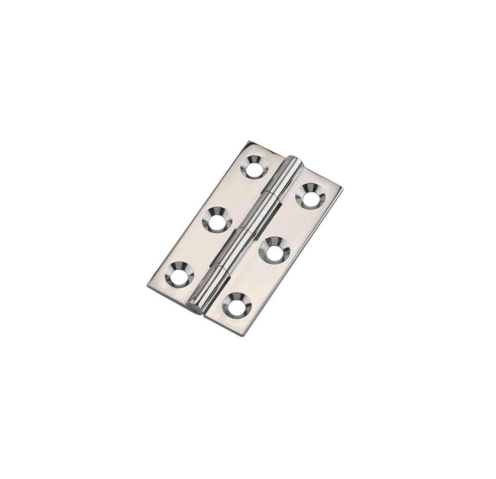 Polished Chrome Butt Hinges 38 x 22mm 2 Pack